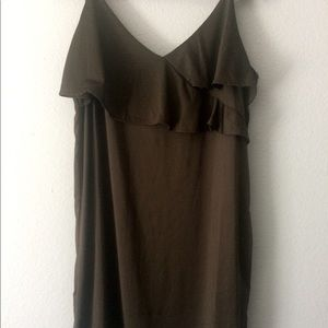 H&M middi dress with ruffle top
